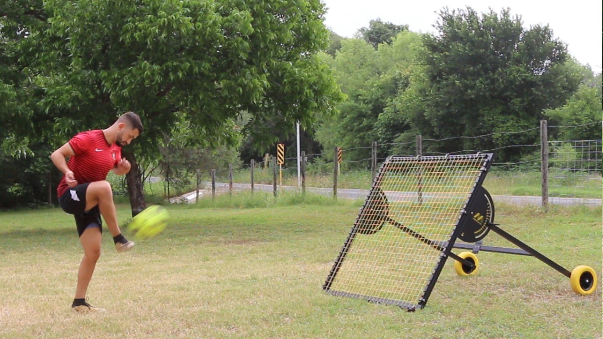Professional Soccer Rebounder Drills
